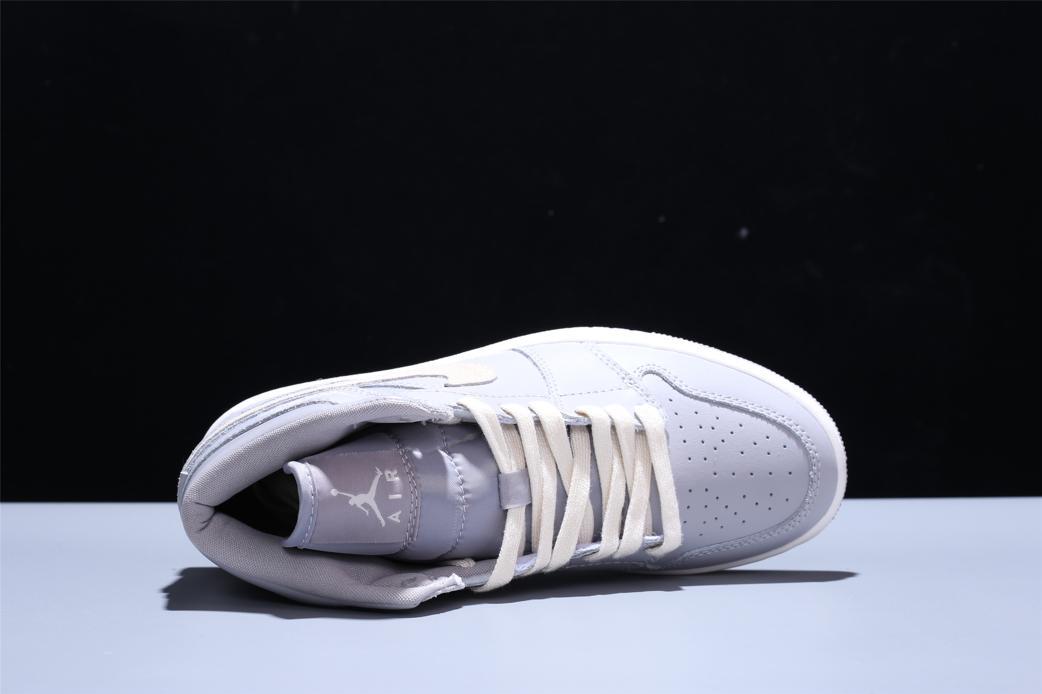 Wmns Air Jordan 1 Mid Grey Light Bone 8