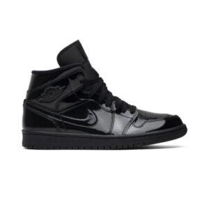 Wmns Air Jordan 1 Mid Patent SE Triple Black