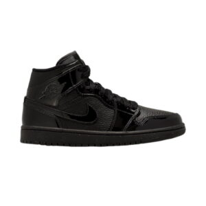 Wmns Air Jordan 1 Mid Patent Triple Black