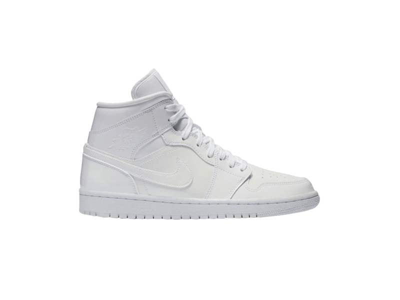 Wmns Air Jordan 1 Mid Patent Triple White
