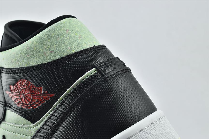 Wmns Air Jordan 1 Mid SE Black Barely Volt 16
