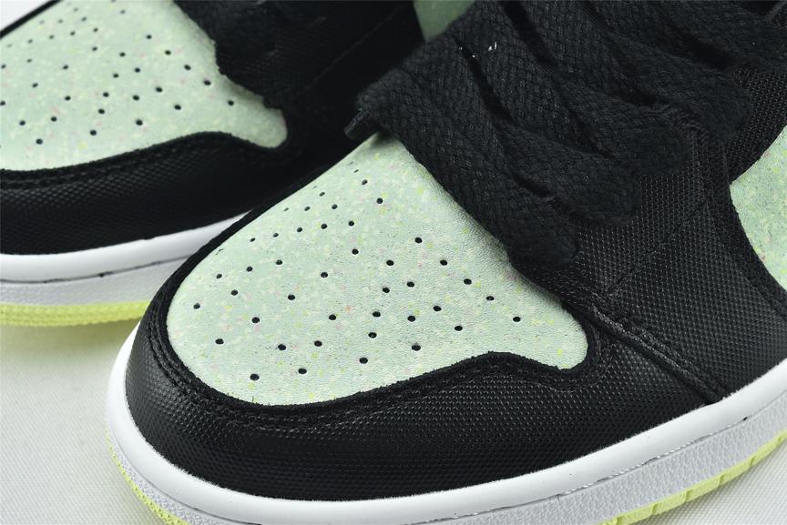 Wmns Air Jordan 1 Mid SE Black Barely Volt 3