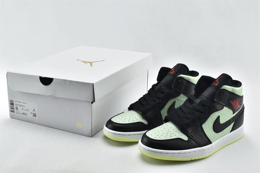 Wmns Air Jordan 1 Mid SE Black Barely Volt 8