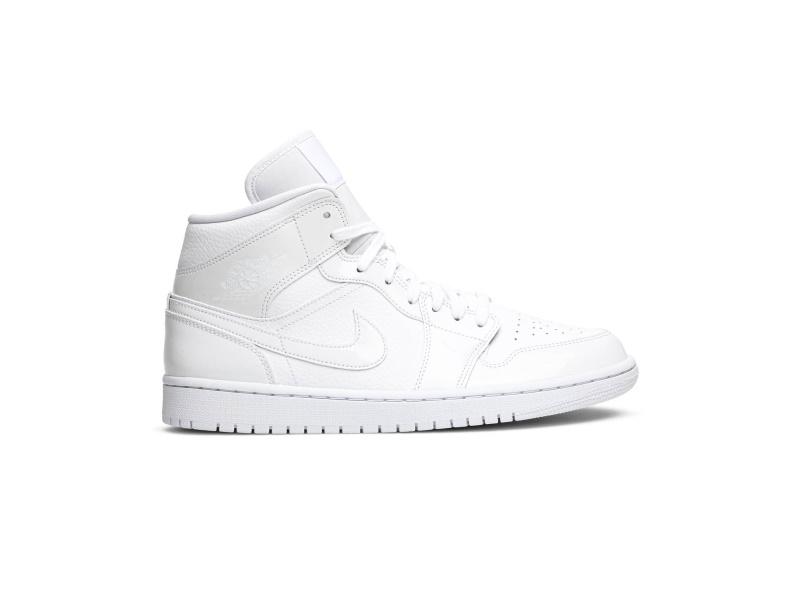 Wmns Air Jordan 1 Mid Triple White