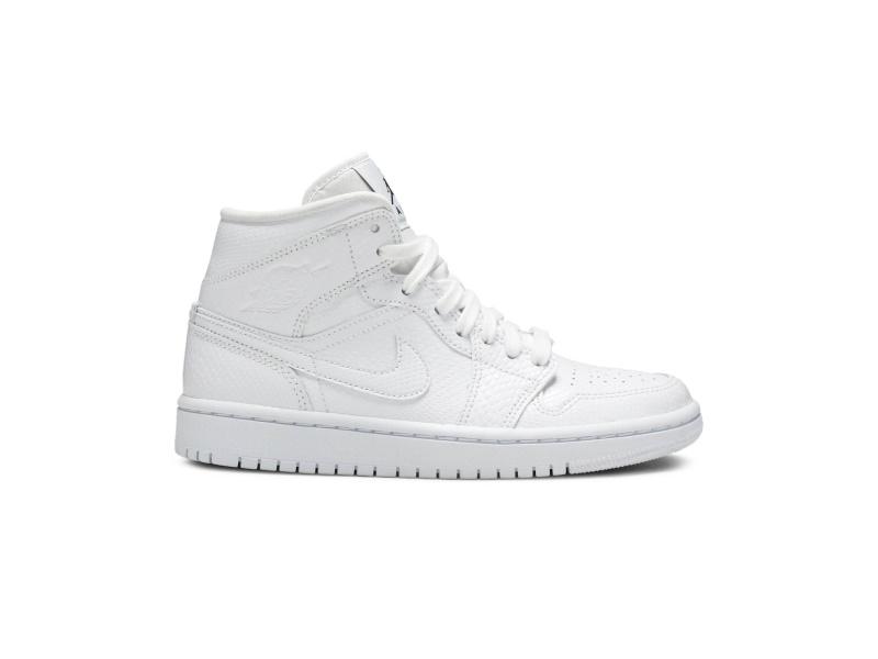 Wmns Air Jordan 1 Mid White Snakeskin