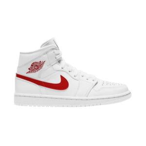 Wmns Air Jordan 1 Mid White University Red