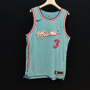 2019 20 Dwyane Wade Miami Heat Nike Authentic Jersey Blue City Edition 1