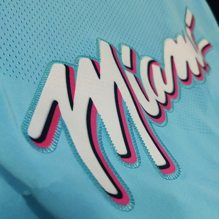 2019 20 Dwyane Wade Miami Heat Nike Authentic Jersey Blue City Edition 2