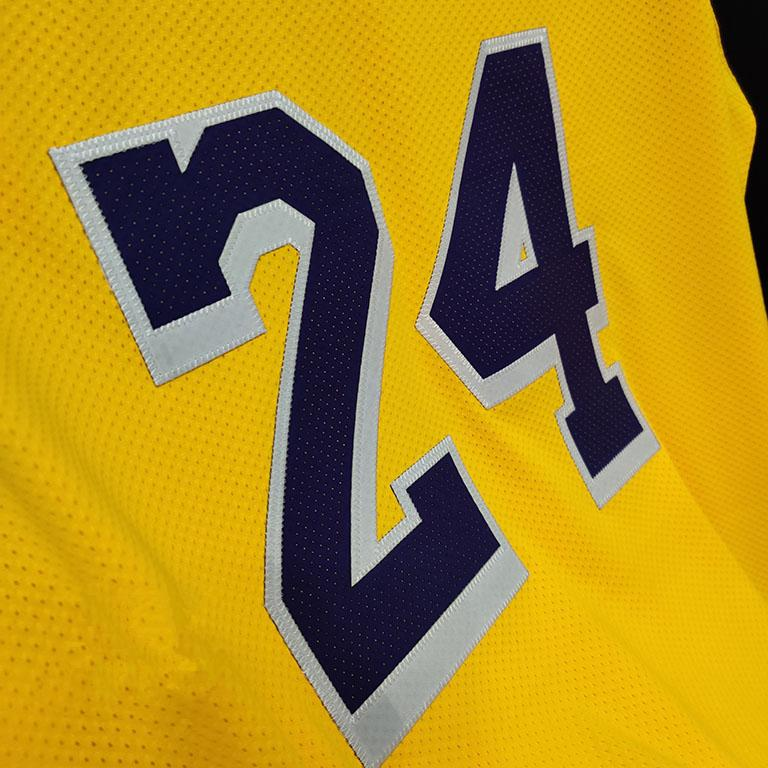 2019 20 Los Angeles Lakers Nike Custom Authentic Jersey Yellow Icon Edition 2