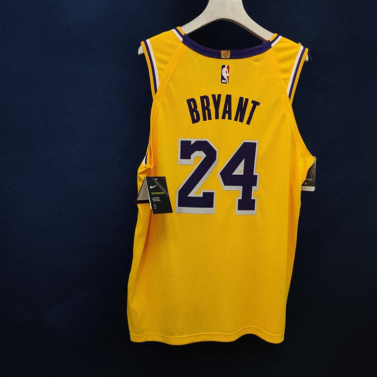 2019 20 Los Angeles Lakers Nike Custom Authentic Jersey Yellow Icon Edition 4