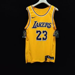 2019 20 Nike LeBron James Lakers Gold Authentic Jersey Icon Edition 1