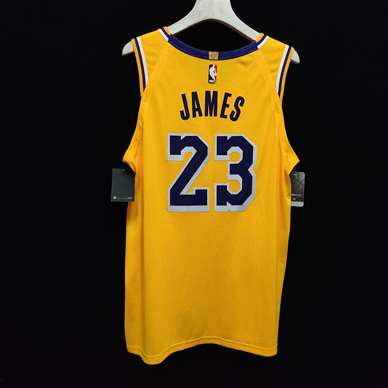 2019 20 Nike LeBron James Lakers Gold Authentic Jersey Icon Edition 2