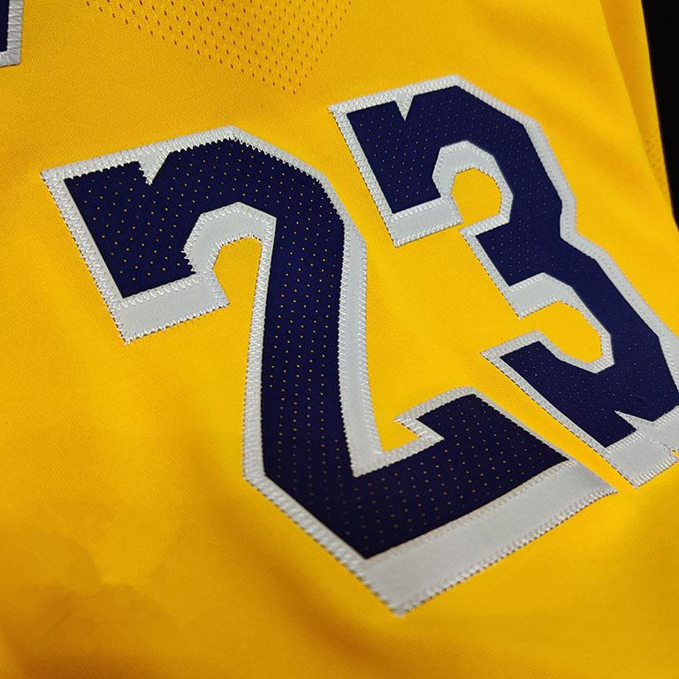 2019 20 Nike LeBron James Lakers Gold Authentic Jersey Icon Edition 3
