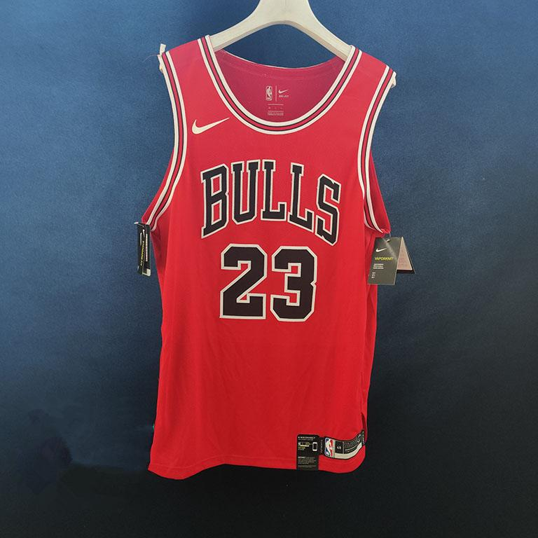 2019 20 Nike Red Chicago Bulls Authentic Custom Icon Edition 1