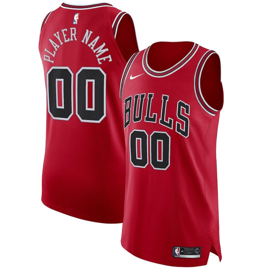 2019 20 Nike Red Chicago Bulls Authentic Custom Icon Edition