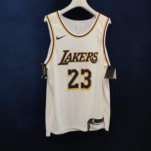2020 21 LeBron James Lakers White Authentic Association Edition 1