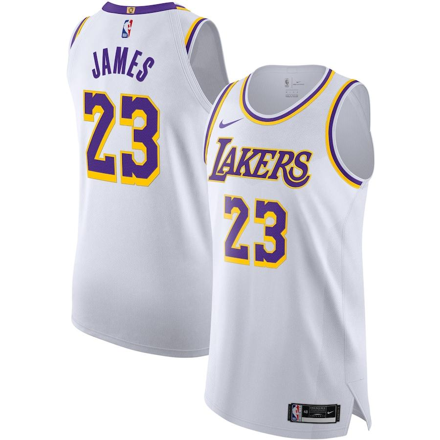 2019-20 LeBron James Lakers White Authentic Association Edition