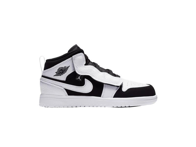 Air Jordan 1 Mid Alt PS White Black