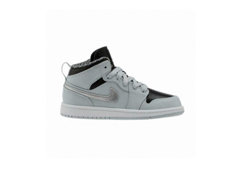 Air Jordan 1 Mid BP Pure Platinum Black