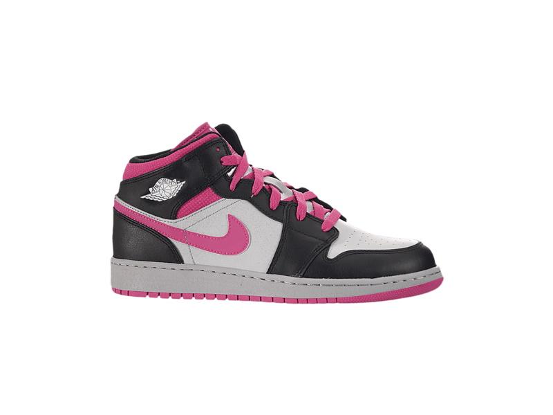 Air Jordan 1 Mid GS Black Vivid Pink