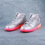 Air Jordan 1 Mid GS Metallic Silver Pink Crimson 1