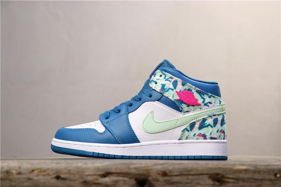 Air Jordan 1 Mid GS Paint Stroke 1