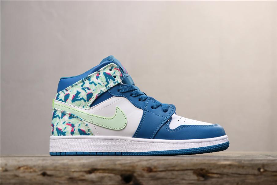 Air Jordan 1 Mid GS Paint Stroke 2