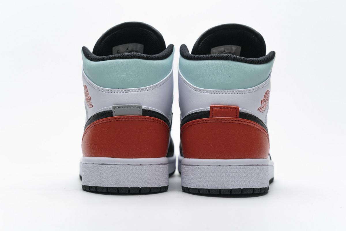 Air Jordan 1 Mid GS Red Mint 10