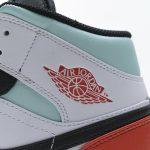 Air Jordan 1 Mid GS Red Mint 8