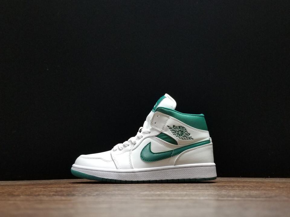 Air Jordan 1 Mid Mystic Green 1