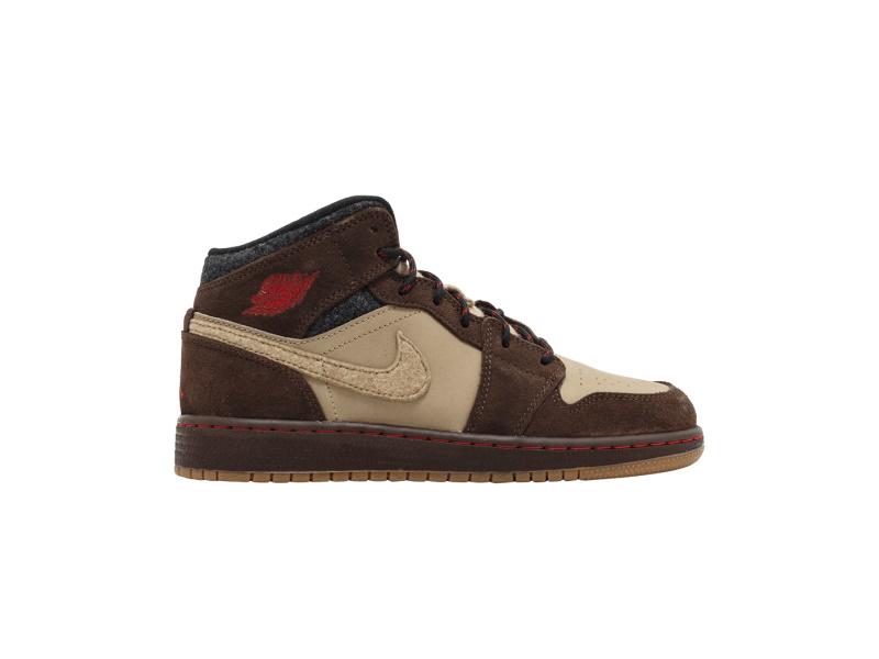 Air Jordan 1 Mid Premium BG Baroque Brown