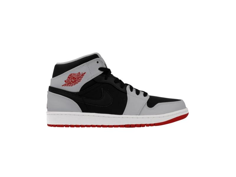 Air Jordan 1 Mid Red Grey