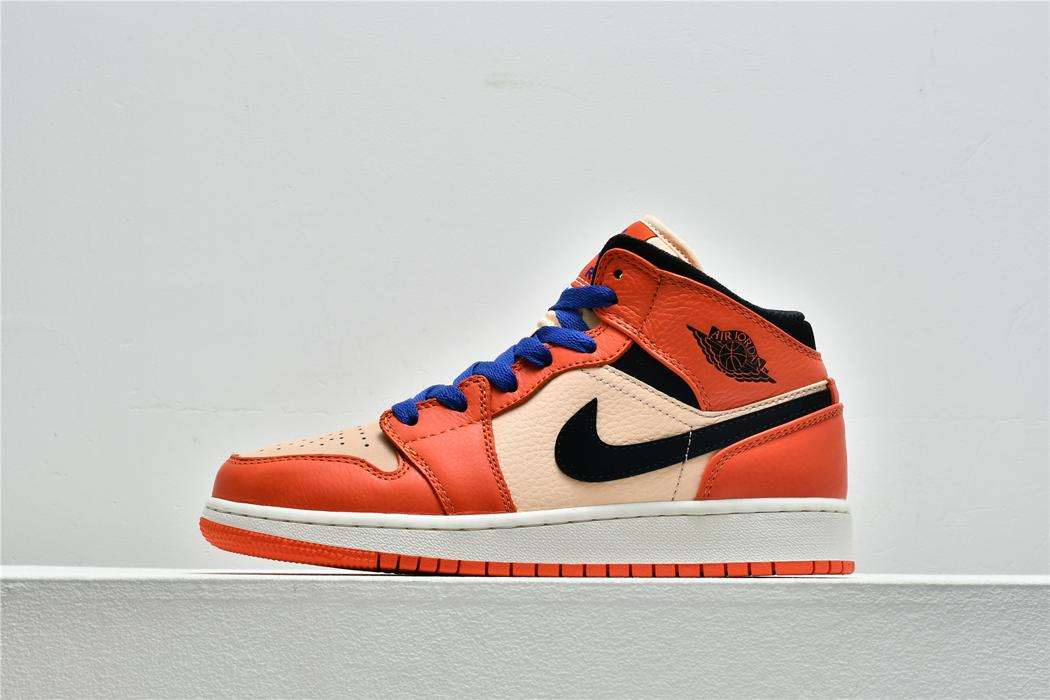 Air Jordan 1 Mid SE GS Team Orange 1