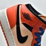 Air Jordan 1 Mid SE GS Team Orange 13
