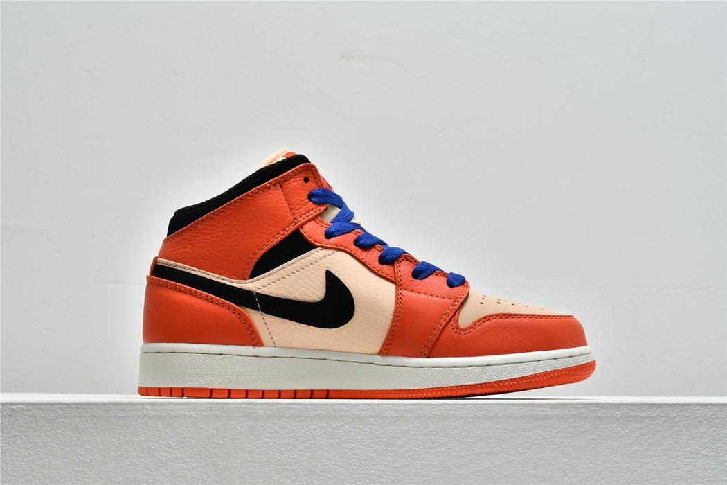 Air Jordan 1 Mid SE GS Team Orange 2