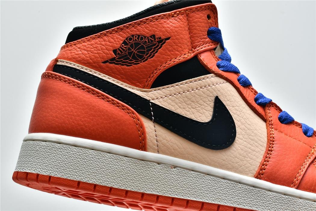 Air Jordan 1 Mid SE GS Team Orange 8