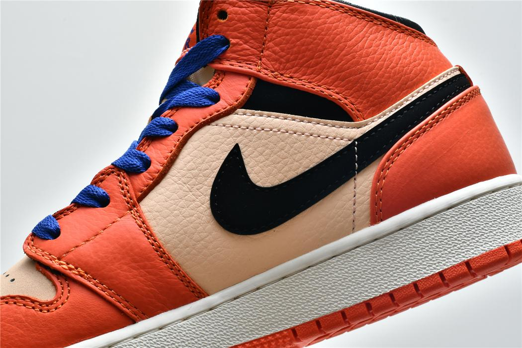 Air Jordan 1 Mid SE GS Team Orange 9