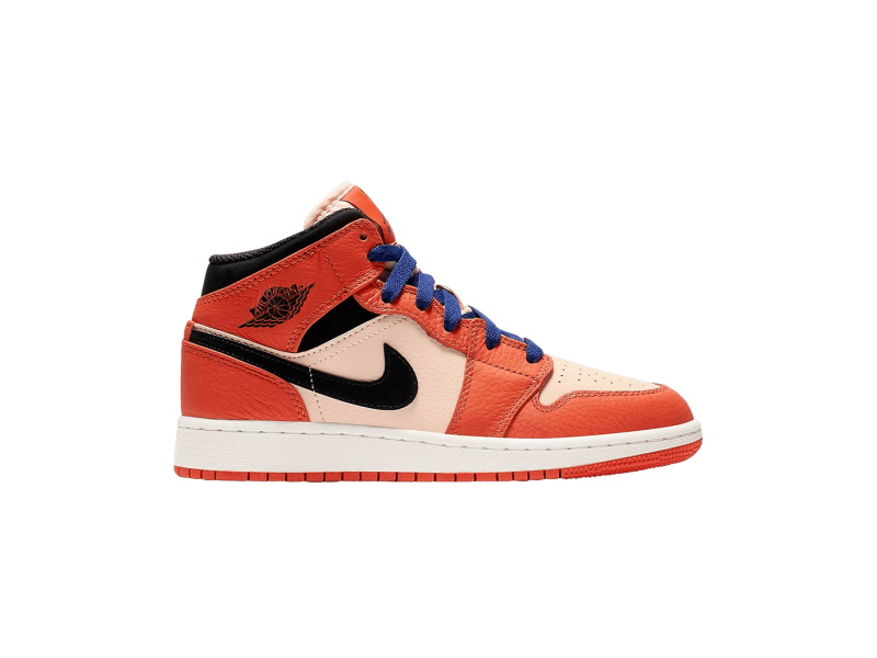 Air Jordan 1 Mid SE GS Team Orange