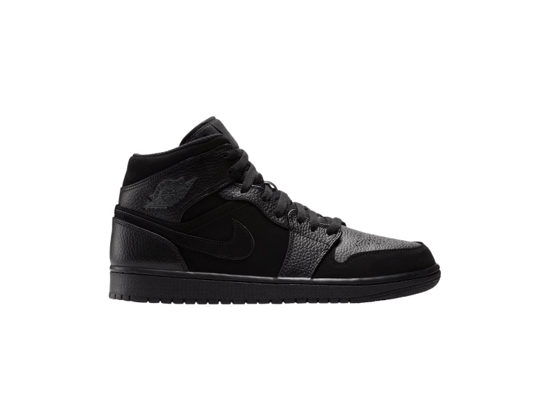 Air Jordan 1 Retro Mid GS Black Dark Grey 1