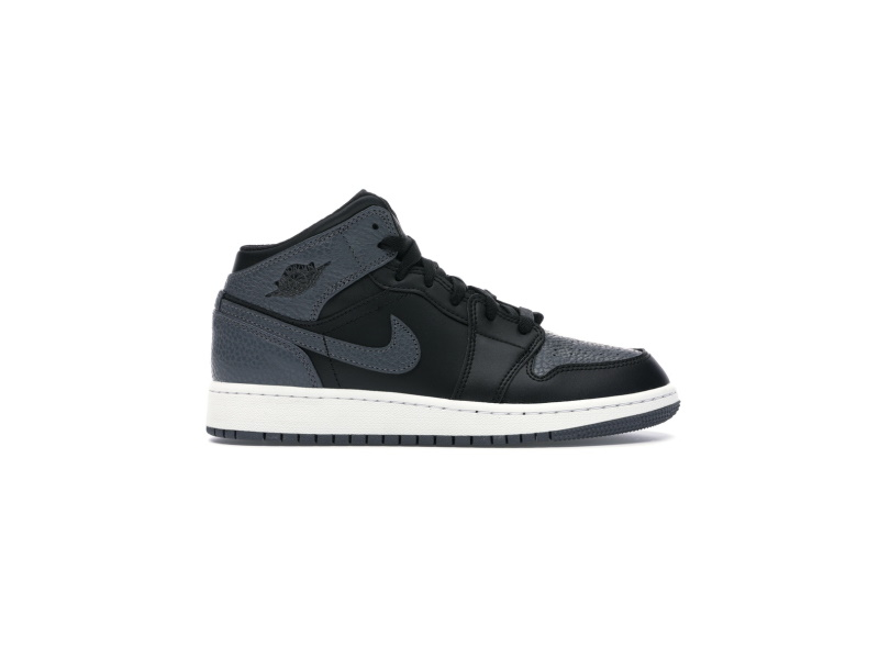 Air Jordan 1 Retro Mid GS Black Dark Grey