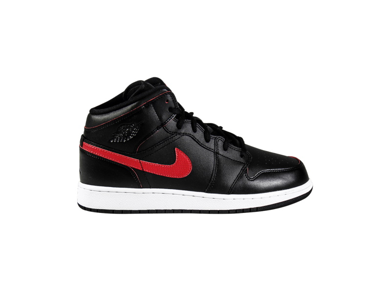 Air Jordan 1 Retro Mid GS Black Gym Red 1