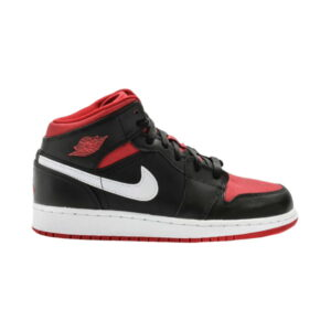 Air Jordan 1 Retro Mid GS Black Red White