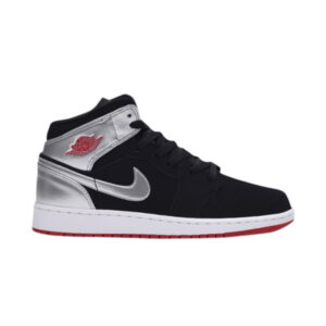 Air Jordan 1 Retro Mid GS Black Silver