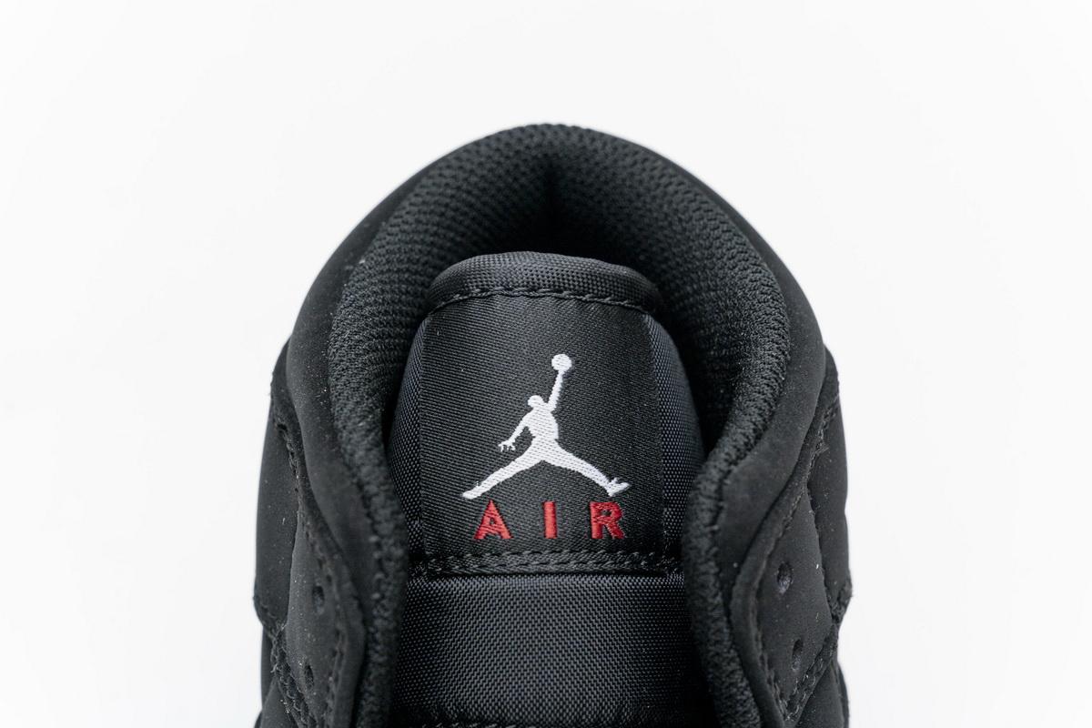 Air Jordan 1 Retro Mid GS Black University Red 2