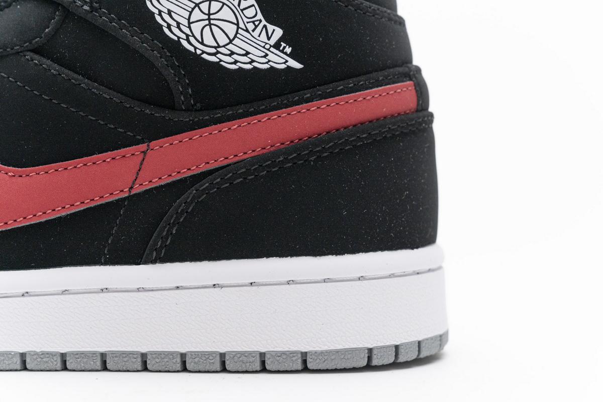 Air Jordan 1 Retro Mid GS Black University Red 7