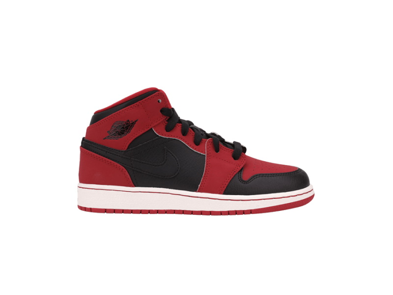 Air Jordan 1 Retro Mid GS Bred
