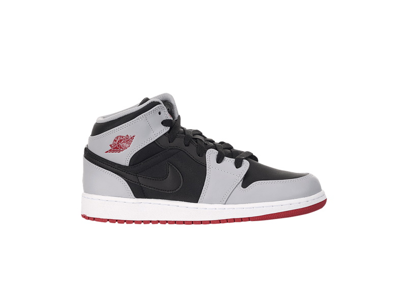 Air Jordan 1 Retro Mid GS Gym Red Wolf Grey