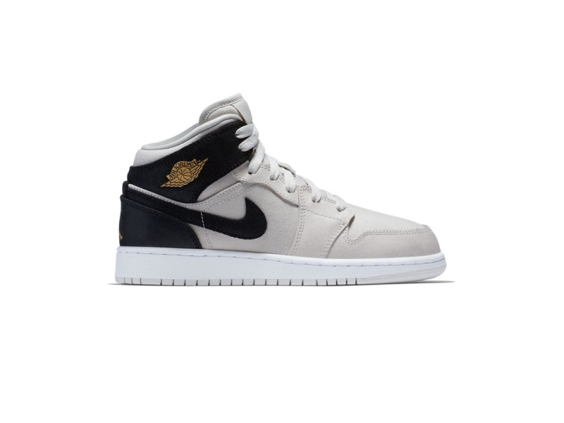 Air Jordan 1 Retro Mid GS Light Bone