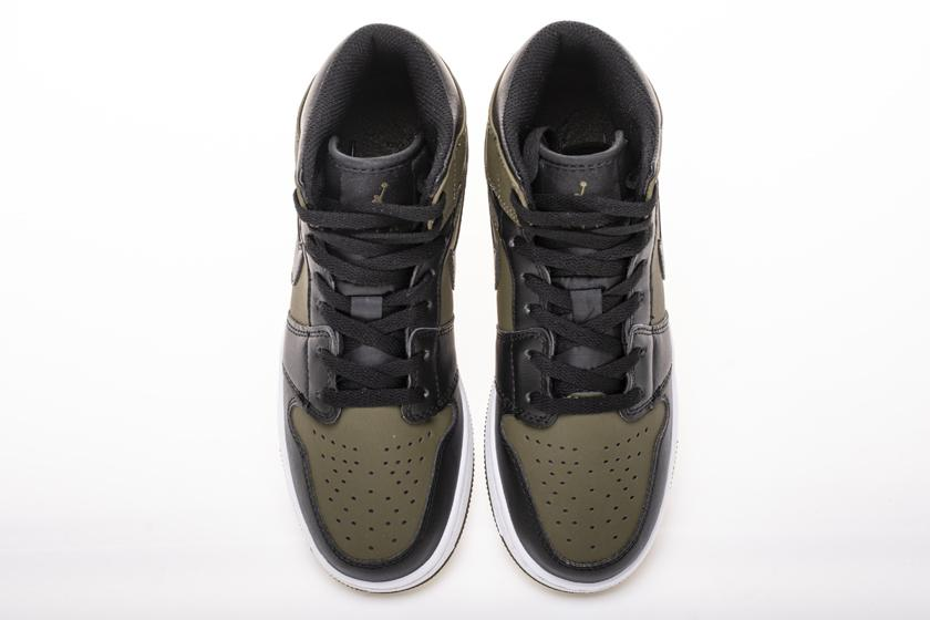 Air Jordan 1 Retro Mid GS Olive Canvas 11