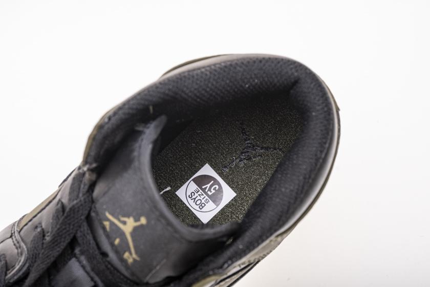 Air Jordan 1 Retro Mid GS Olive Canvas 12